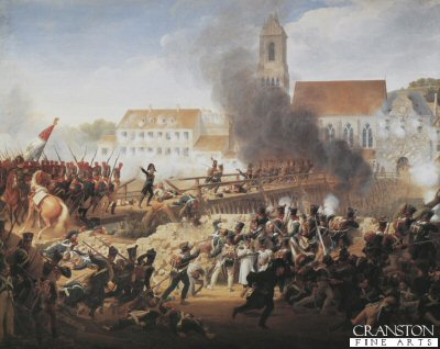 Passage Du Pont de Landshut by Louis Hersent (Battle of Landshut, 21st April 1809)