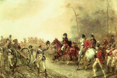 The Duke of Wellington on the Road to Quatre Bras by Robert Hillingford.