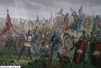 Richard III at the Battle of Bosworth, 22nd August 1485 by Mark Churms.