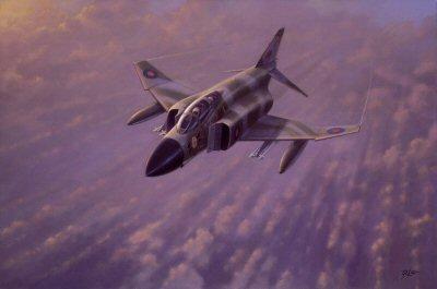 Phantom FGR 2 of III Squadron by Geoff Lea.