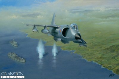 Action Over San Carlos by Geoff Lea.