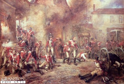 Defence of Hougoumont Farm by Robert Hillingford (GS)