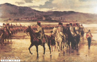 The Passage of the Bidassoa by Wellingtons Army, 7th October 1813 by J P Beadle.