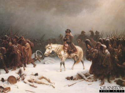 Napoleons Retreat From Moscow by Adolf Northern.