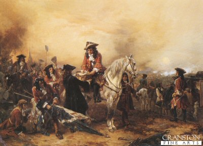 Marlborough Signing Dispatches After the Battle of Blenheim by Robert Hillingford (B)