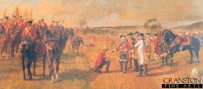 King George II Knighting Trooper Brown After the Battle of Dettingen by J P Beadle. (Y)