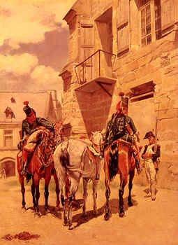Les Ordannces by Jean Louis Ernest Meissonier (B)