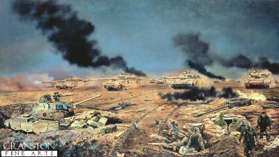 Battle of Al Haniyah, 26th February 1991 by David Rowlands. (GS)