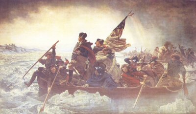 Washington Crossing the Delaware by Emanual Gottlieb Leutze. (B)