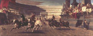 Chariot Race by Alexander von Wagner.