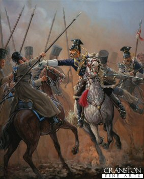 Officer 17th Lancers, Balaclava 1854 by Mark Churms.