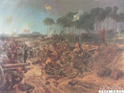 Capture of a German Battery by Richard Caton Woodville. (Y)