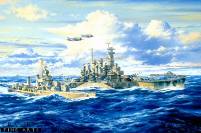 USS North Carolina, Saipan Bound by Anthony Saunders