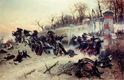 La Defence de la Longbayau by Alphonse De Neuville.