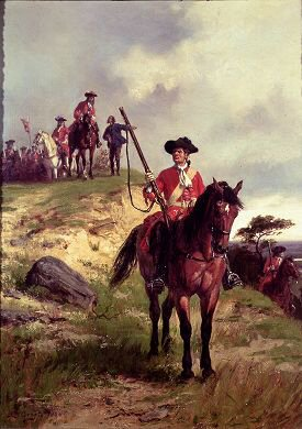 The Outpost (Dragoon c 1700) by Ernest Crofts.