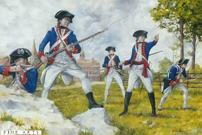 2nd Maryland Regiment at the Guildford Courthouse 1781 by Brian Palmer.