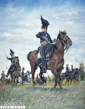 Brunswick Hussar, Quatre Bras 16th June 1815 by Brian Palmer.