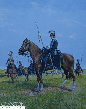Brunswick Uhlan, Quatre Bras 16th June 1815 by Brian Palmer. (XX)
