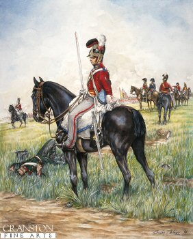 2nd Life Guards, Waterloo 18th June 1815 by Brian Palmer. (Y)