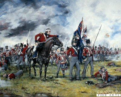 Royal Scots at Waterloo by Brian Palmer.