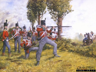 51st (2nd Yorkshire, West Riding) Light Infantry at Waterloo June 1815. by Brian Palmer.