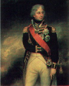 Portrait of Horatio Nelson by Captain Richard Brydges Beechey.