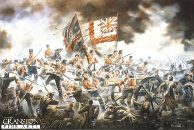 The 33rd (Duke of Wellingtons) Regiment storming the Great Redoubt at the Battle of Alma, 20th September 1854 by David Rowlands.