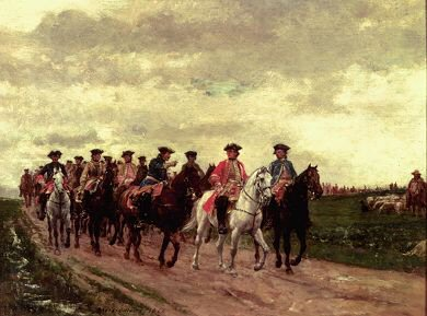 Marshall Saxe and His Troops by Jean Louis Ernest Meissonier.