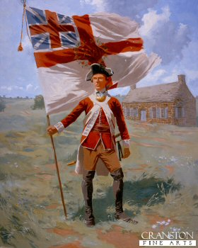 Ensign of the 17th regiment of Foot, American War of Independence 1779. by Jim Lancia.