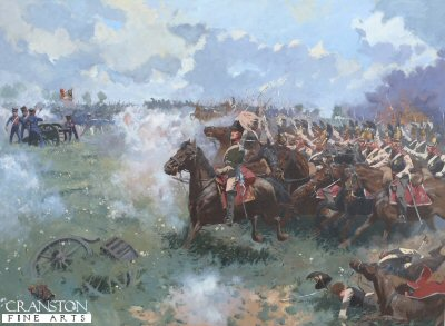 Charge of the Russian Cuirassiers at Borodino by Jim Lancia.