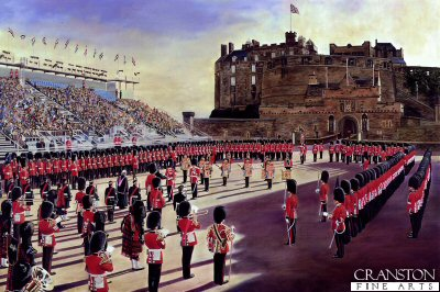 2nd Battalion Scots Guards at Edinburgh Castle by David Rowlands (GL)