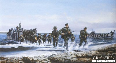 The Royal Marines Landing at San Carlos by David Rowlands (GS)