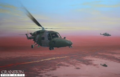 Tribute to the crew of Lynx Helicopters of the Army Air Corps by Graeme Lothian. (APB)