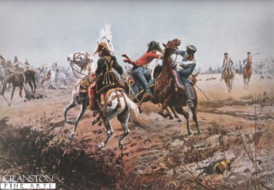 The Death of Lt. Guido von der Lippe During the Pursuit of Murat by Richard Knotel.