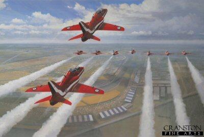 Red Arrows - 1991 British Grand Prix by Mark Postethwaite.