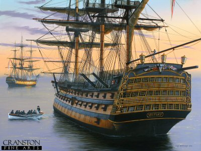 Becalmed - HMS Victory in the Doldrums by Ivan Berryman.