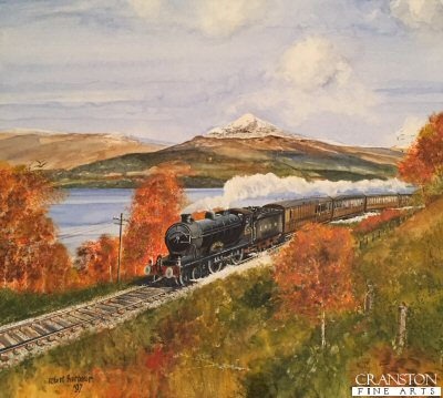 LNER Glen Croe in Autumn in Scotland by Robert Barbour. (P)