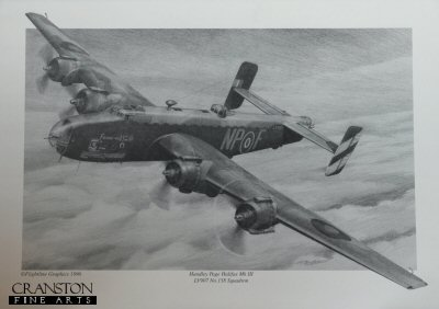 Handley Page Halifax Mk.III LV907 of No.158 Sqn - 'Friday the 13th' by G Henderson.