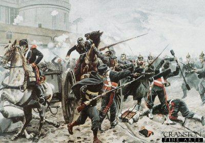 Hessian Troops Near Chambord, 9th December 1870 by Richard Knotel.