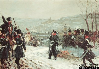 Blucher Leads the Prussian Army Across the Rhine by Richard Knotel.