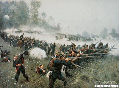 Die Schlacht Bei Konniggratz, 3rd June 1866 by Carl Rochling.