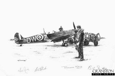 Tribute to Flight Lieutenant Warner of No.610 Sqn by Ivan Berryman. (P)