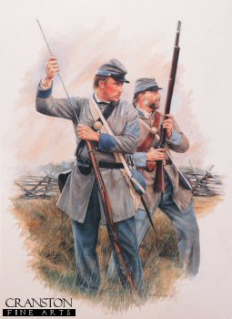 Confederate Infantryman of the 19th Virginia by Chris Collingwood.