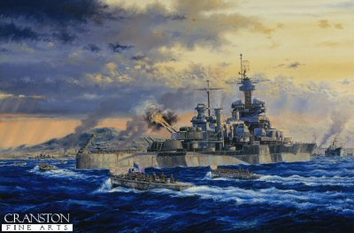 USS Colorado Okinawa by Anthony Saunders. (PC)