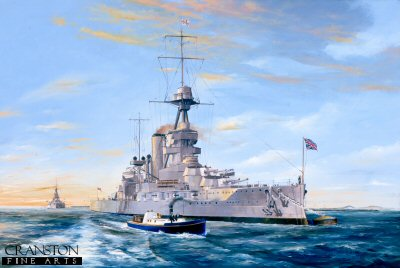 HMS Iron Duke at Weymouth Bay 1927 by Randall Wilson. (P)
