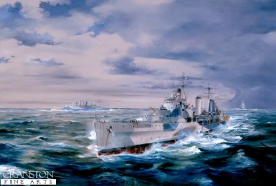 HMS Belfast During the Battle of North Cape by Randall Wilson.