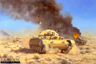 Operation Crusader, 18th November 1941 by David Pentland.