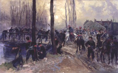 Episode during the Siege of Paris by Edouard Detaille.