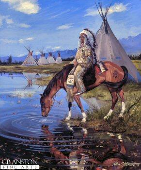 Assiniboin Warrior by Alan Herriot.