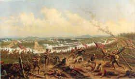 First Day at Gettysburg by James Alexander Walker.